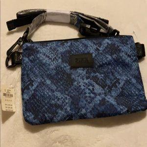 VS Pink Blue Snakeskin Crossbody Bag
